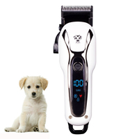 Professional LCD Electric Pet Hair Cutter Animal Grooming Clipper Pet Dog Cat Rechargeable Trimmer