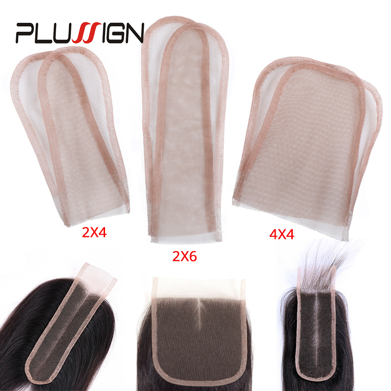 Plussign 2X4/2X6/4X4 Swiss Lace Pattern Net For Making Wig Toupee Top Closure Foundation Hair Accessories Monofilament 3 Sizes