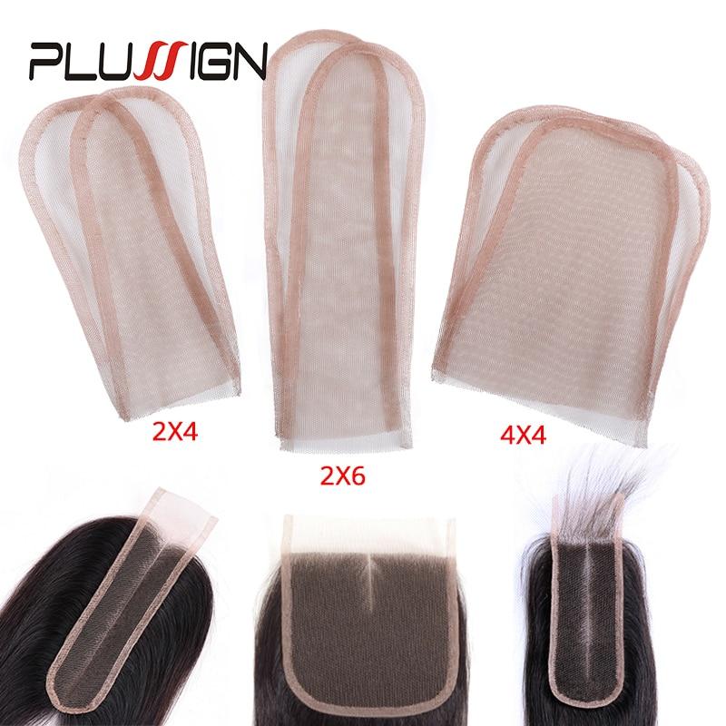 Plussign 2X4/2X6/4X4 швейцарский кружевной узор сетка для изготовления парика-накладка верхнее закрытие основа аксессуары для волос мононити 3 разм...