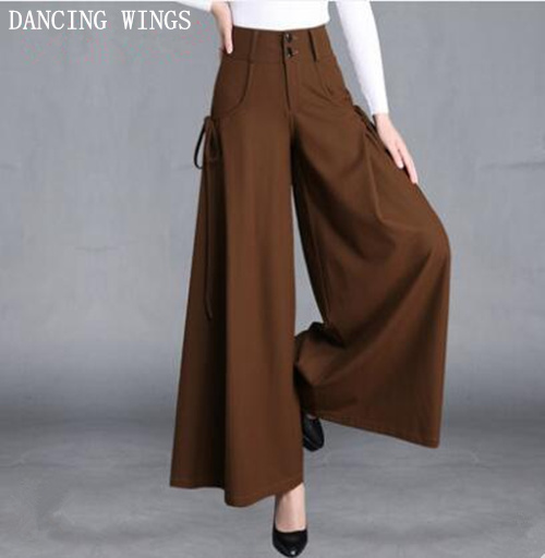 Spring Autumn High Waist   Wide     Leg     Pants   Women Loose Casual   Pants   Trousers