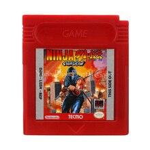 Nintendo gbc consola de videojuego cartucho tarjeta de ninja gaiden sombra versión en inglés