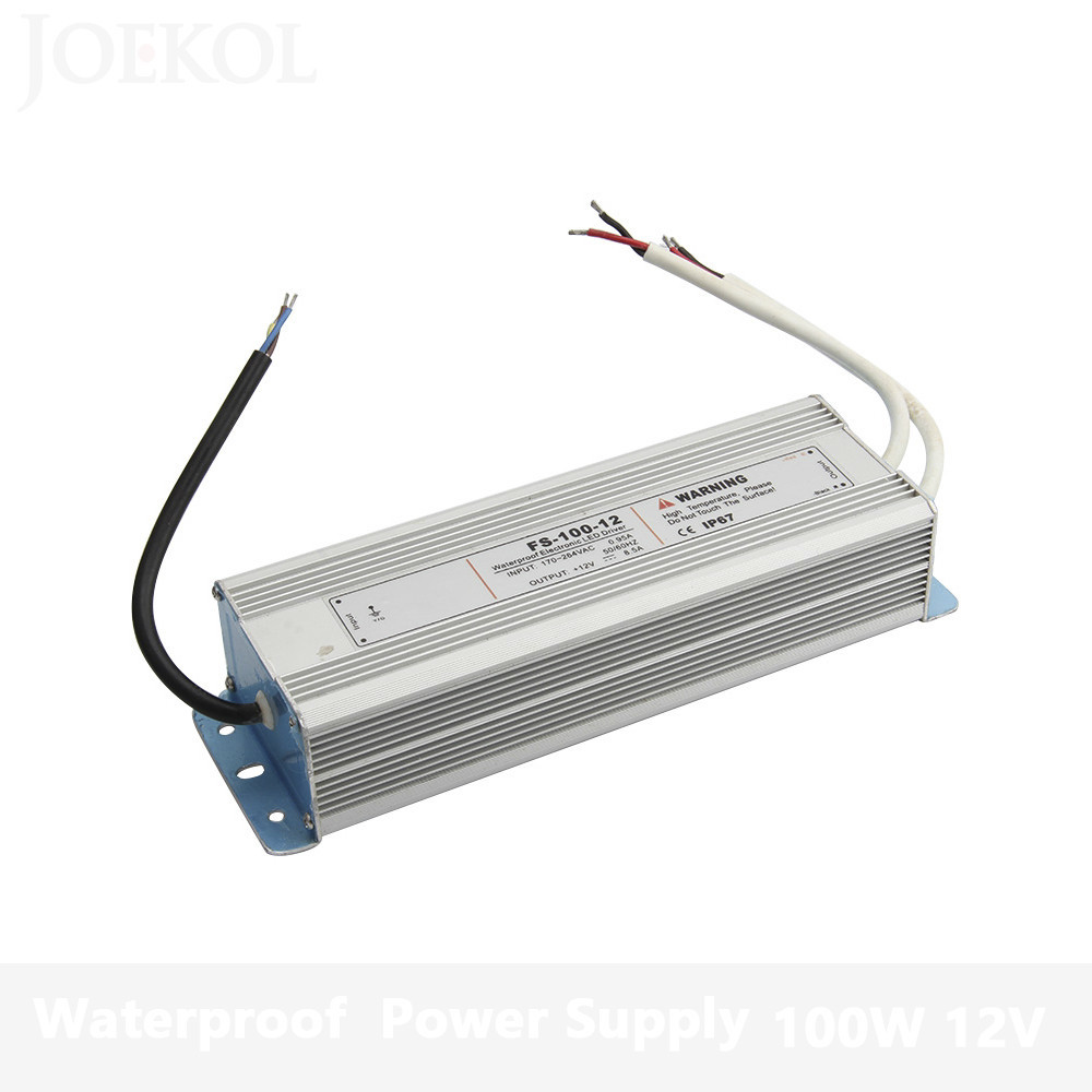 AC 170-260V To DC 12V-48V 100W Led Driver Transformer Waterproof Switching Power Supply Adapter,IP67 Waterproof Outdoor Strip