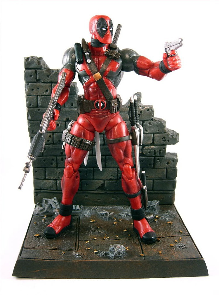 ФОТО 7 inch Marvel Deadpool top figure toys boy with Scene 2016 New Anime X-men ultra movable Deadpool toys for adults