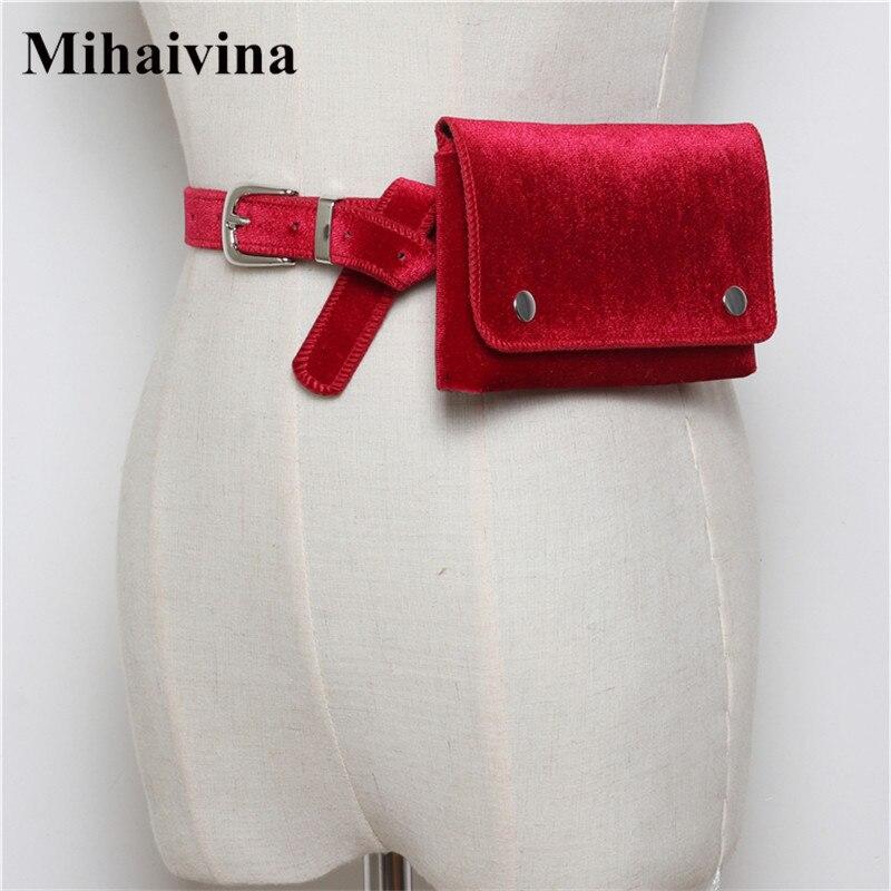 5a0482cfbca7 Mihaivina аллигатора Фанни пакеты для Для женщин кожаный ремень поясная  мини сумка женские поясные сумки кармашек