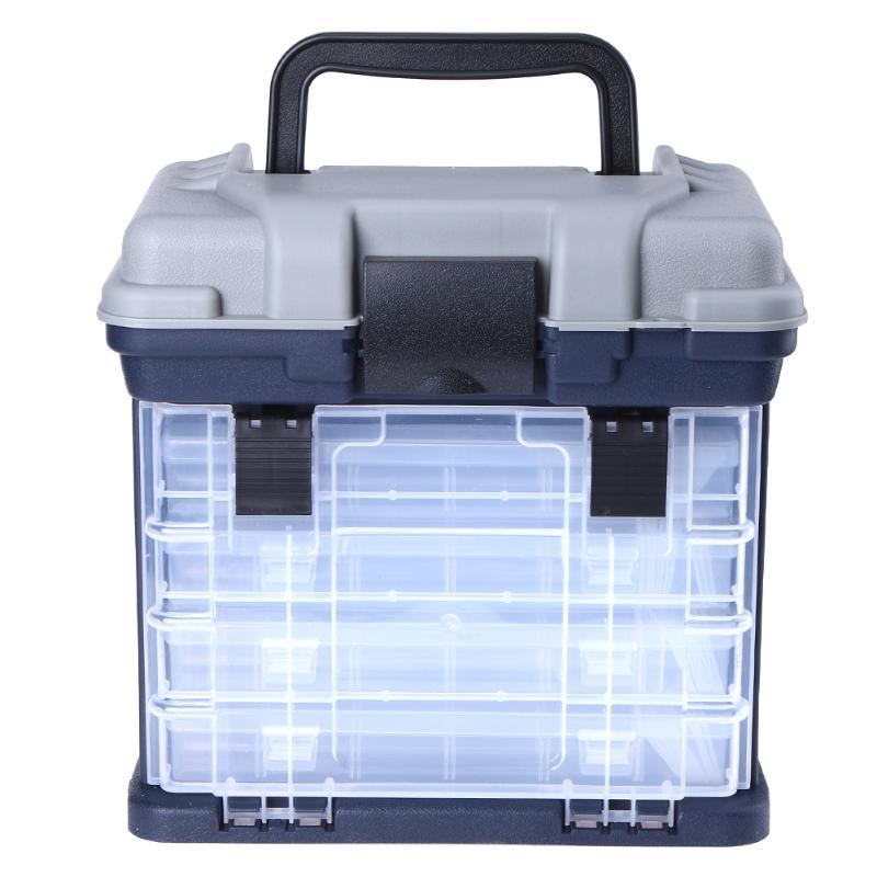 Boîte de rangement de pêche à 5 couches leurre mobile appâts crochets outil conteneur avec poignée boîtier en plastique organisateur Portable en plein air