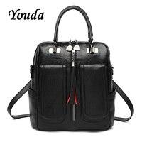 Youda Teenage Girls Female School Satchel Bagpack Fashion Women Backpack High Quality Youth PU Leather Backpacks