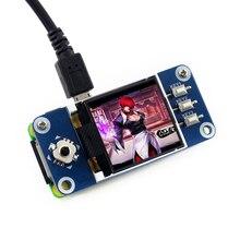 Waveshare chapéu com tela lcd de 1.44 polegadas, para raspberry pi 2b/3b/3b +/zero w retroiluminação led 128x128 pixels spi, interface 3.3v