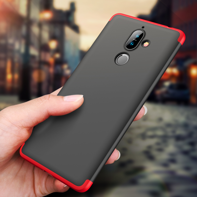 GKK Original Case for Nokia 7 Plus 8.1 X7 Case 360 Full Protection Shockproof 3 in 1 Slim Hard PC Matte for Nokia 7 Plus Cover feature phone