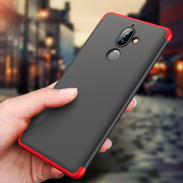 official photos 19d23 11183 GKK Original Case for Nokia 7 Plus 8.1 X7 Case 360 Full Protection  Shockproof 3 in 1 Slim Hard PC Matte for Nokia 7 Plus Cover