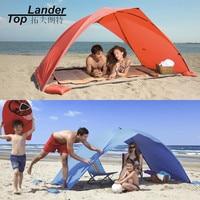 태양 쉼터 텐트 해변 여름 야외 자외선 방수포 태양 그늘 Strandtent 안감 캠핑 낚시 천막 양산 해변 텐트 캐노