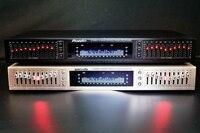 Chegam novas eq665 equalizador de alta fidelidade casa eq misturador equilibrado duplo 10 segmento estéreo agudos alto baixo regulamento|Amplificador|   -