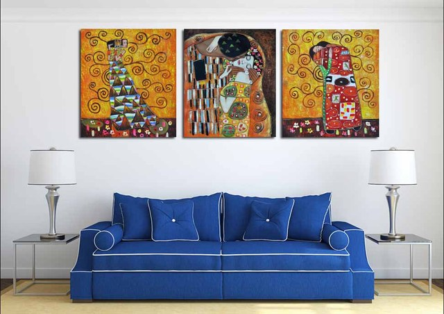 3 Ps Gustav Klimt Kiss Creation For Home Decoration Picture Paintings Large  Canvas Art Wall Pictures Part 36