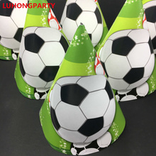 18pcs/lot Cartoon Football Birthday Caps with strings Kids Boys party hats Cheering Cartoon party supplies decoration favors 925 sterling heart european charms bead fit for original pandora bracelets diy pendant charm beads girl women jewelry making
