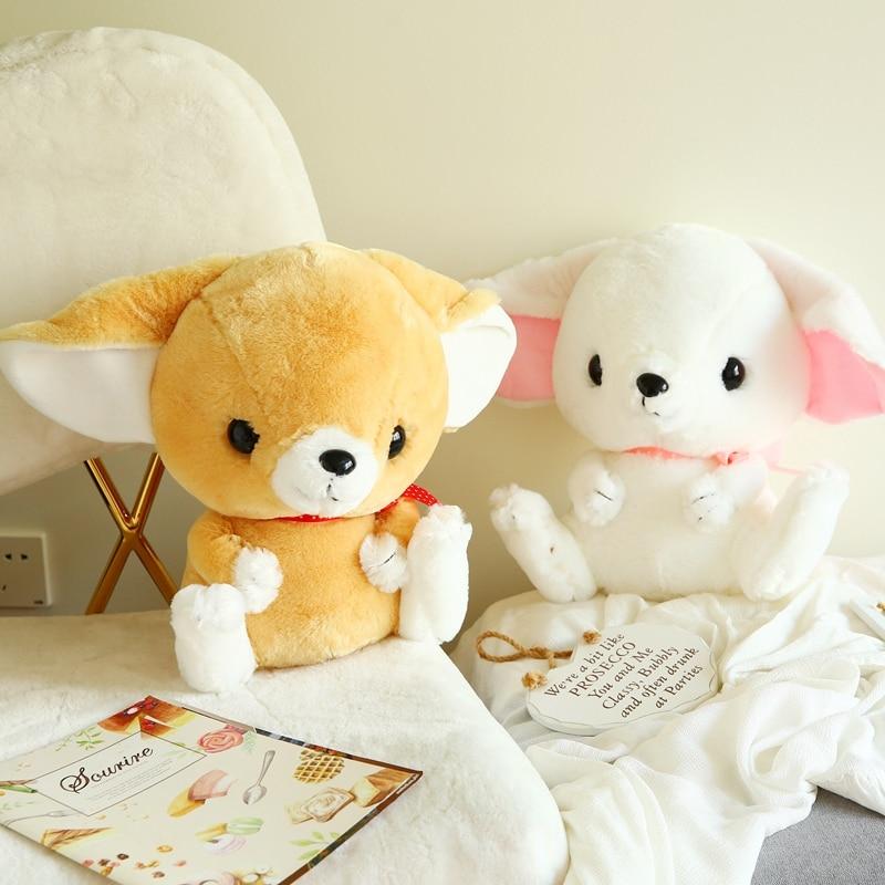 40 Cm Soft Plump Fennec Fox Plush Toy Plump Body Fox Stuffed Doll