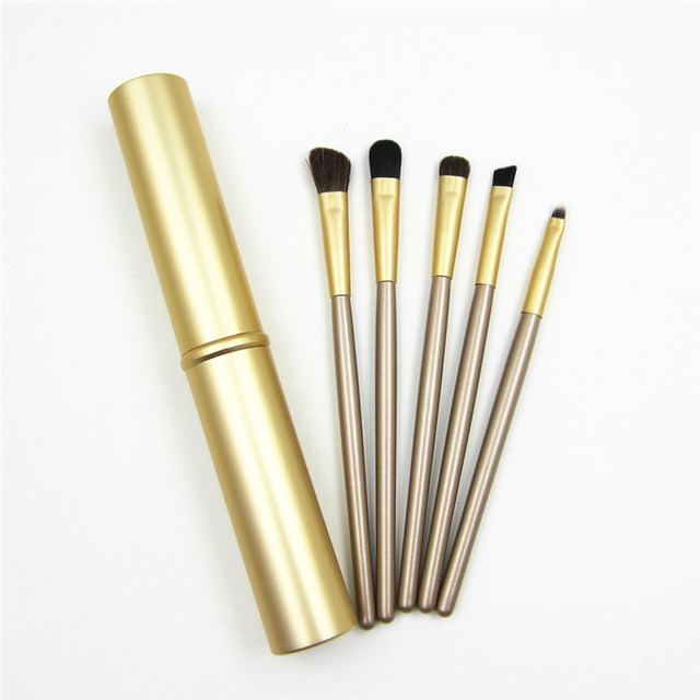 5pcs Travel Portable Mini Eye Makeup Brushes Set Reals Eyeshadow Eyeliner Eyebrow Brush Lip Make Up Brushes kit Professional 5