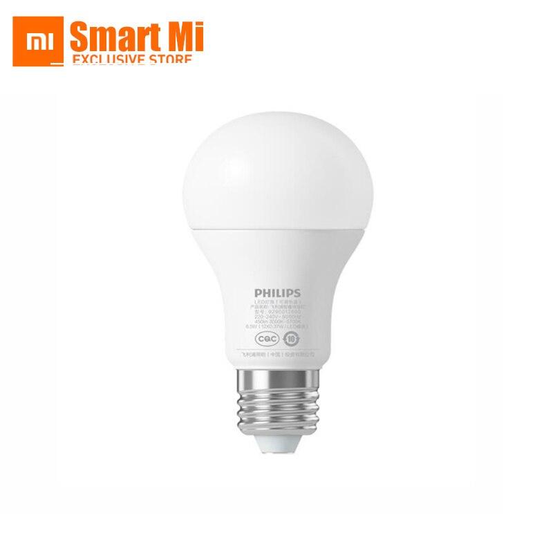 Originaal Xiaomi Smart LED-lampide lambipirn WiFi kaugjuhtimispult, Xiaomi Mi Home APP Standard E27 Bulb 6.5W 0.1A