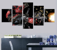 5 패널 HD 인쇄 그림 포스터 데드 마스크 총 자동 캔버스 인쇄 홈 장식 벽 예술 거실 F0398