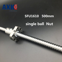 NEW 16mm RM1610 Ball Screw Rolled Ballscrew 1pcs SFU1610 L 500mm With 1pcs 1610 Flange Single
