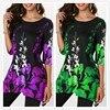 Boho Floral Print Stretch Beach Shirt  4