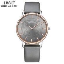 Ibso топовые брендовые Роскошные Мужские кварцевые часы ремешок