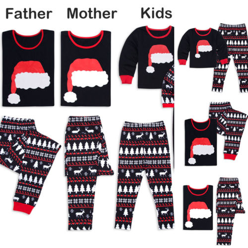 af38f9b0e6dcf US $7.29 |PUDCOCO Newest Family Matching Kids Womens Christmas Pajamas Set  PJs Sets Xmas Sleepwear Casual Tee Pants Nightwear-in Matching Family ...