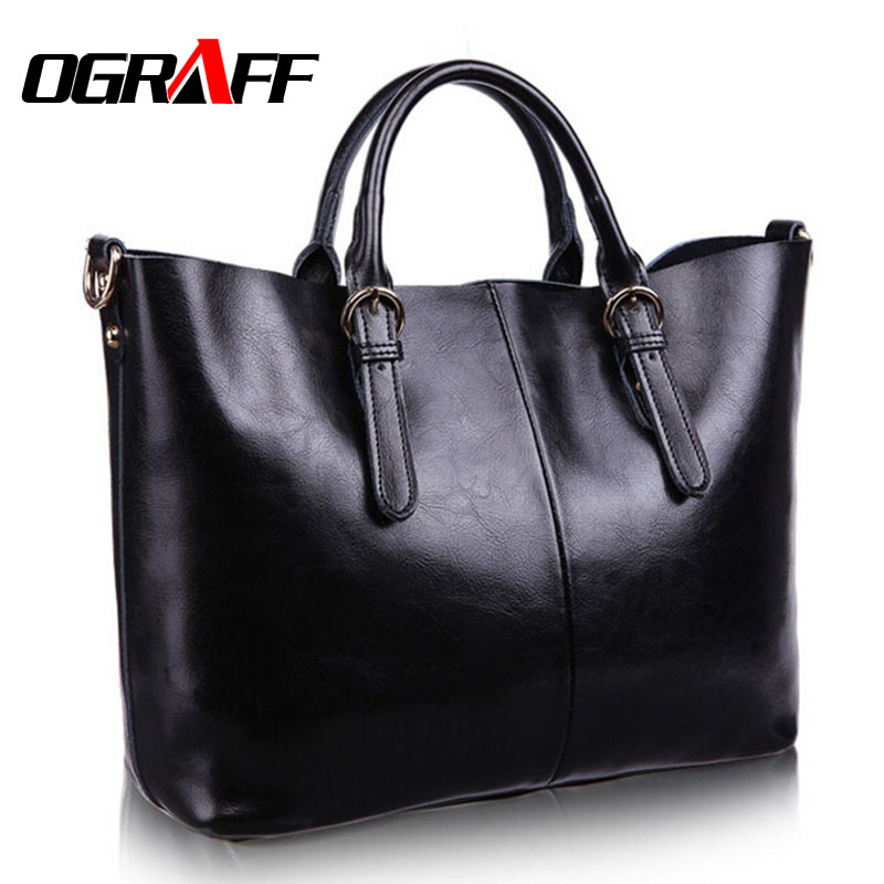 OGRAFF Genuine leather bag ladies New 2017 shoulder bag famous brand women messenger bags for women handbag bolsas designer