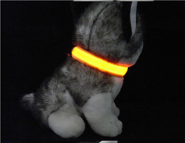 D07 Heyvan Köpək LED Yaxası Pet neylon yaxası parlaq yaxa LED - Ev heyvanları və zoo məhsullar - Fotoqrafiya 2