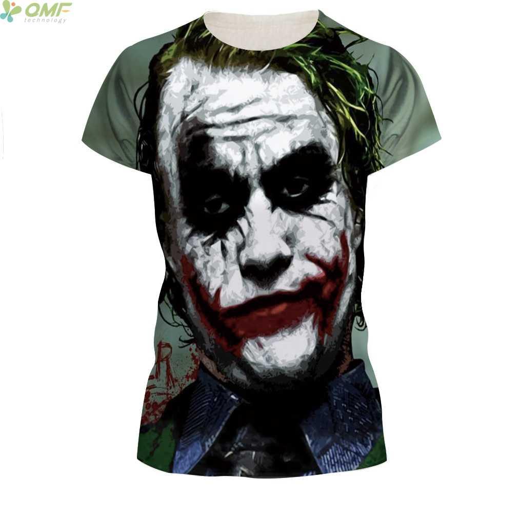 0d3e44c2c ... Heath Ledger Joker t-shirt Casual Short Sleeve O-Neck Couple Tops Tees  Batman ...