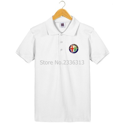 Men And Women Summer Alfa Romeo Polo Shirt Custom Car Club Cotton Lapel Short Sleeve Tooling 4s Shop Uniforms Tops & Tees