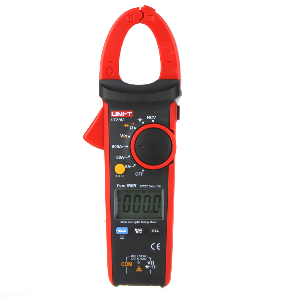 UNI-T UT216A True RMS Digital Clamp Meter Multimeter Auto Range w/ NCV Capacitance AC/DC Voltage AC Current Tongs Ohm Tester мультиметр multimeter 5818 ac dc w