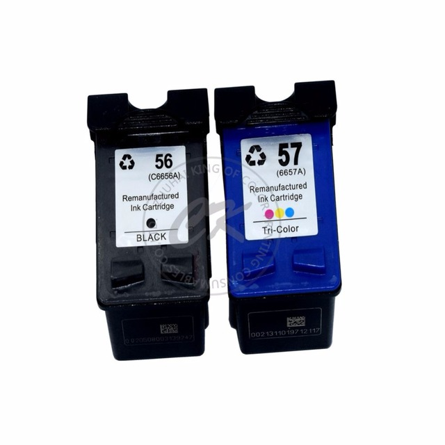 2pk For HP56 57 Compatible Ink Cartridges For HP56 XL for hp57 Deskjet 450wbt 450Cbi 450Ci 5650 5652 5550 5160 9600 9650 9680