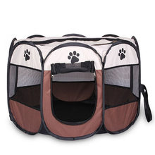 Portable Folding Pet tent Dog House Cage Dog Cat Tent Playpen Puppy Kennel Easy Operation Octagon Fence(China)
