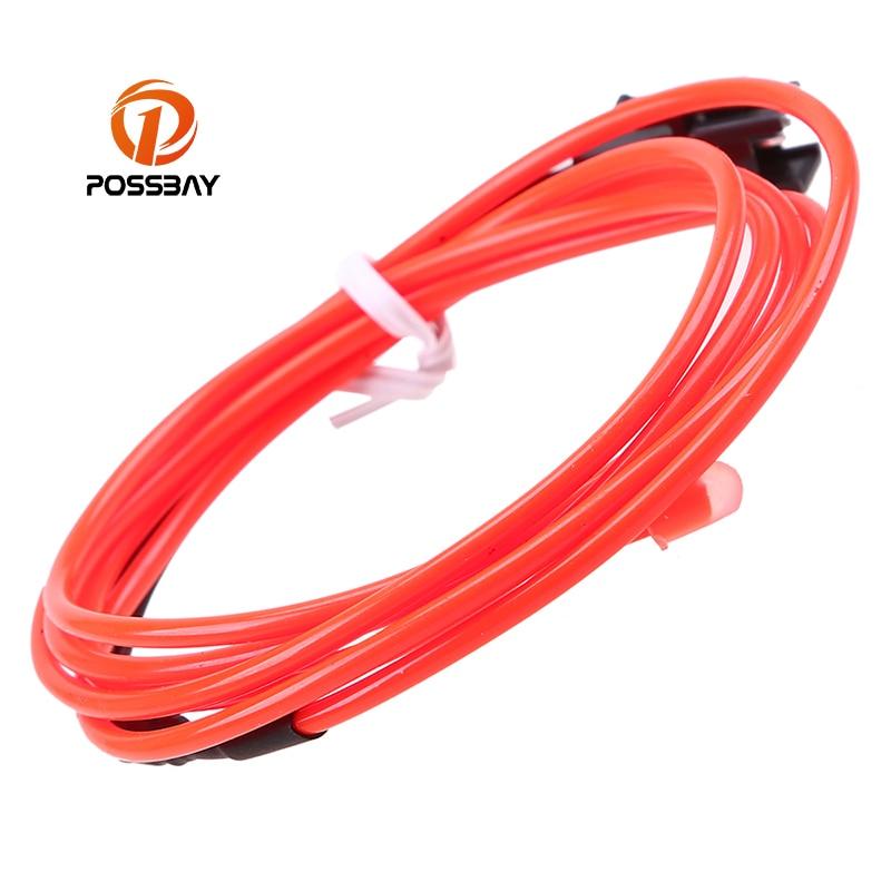 possbay 10 colors diy 12v 110v car interior led el strip tube wire rope neon glow light line diy. Black Bedroom Furniture Sets. Home Design Ideas