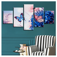 5d diy diamond embroidery Modern Butterfly Flowers 5PCS diamond painting Cross Stitch full drill Rhinestone Multi picture gift