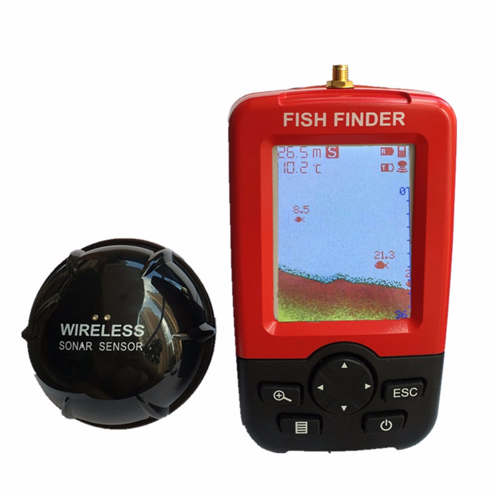 FZCSPEED Fish finder Upgrade Wireless Fishfinder Sensor Rechargeable Waterpoof Wireless Fishfinder Sensor 125KHZ River Lake Sea купить эхолот humminbird fishfinder 565