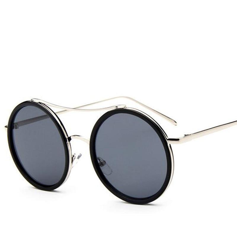 Fashion Newest Mirror Women Sunglasses Female Coating Luxury Round Sun Glasses For Women Ladies oculs font