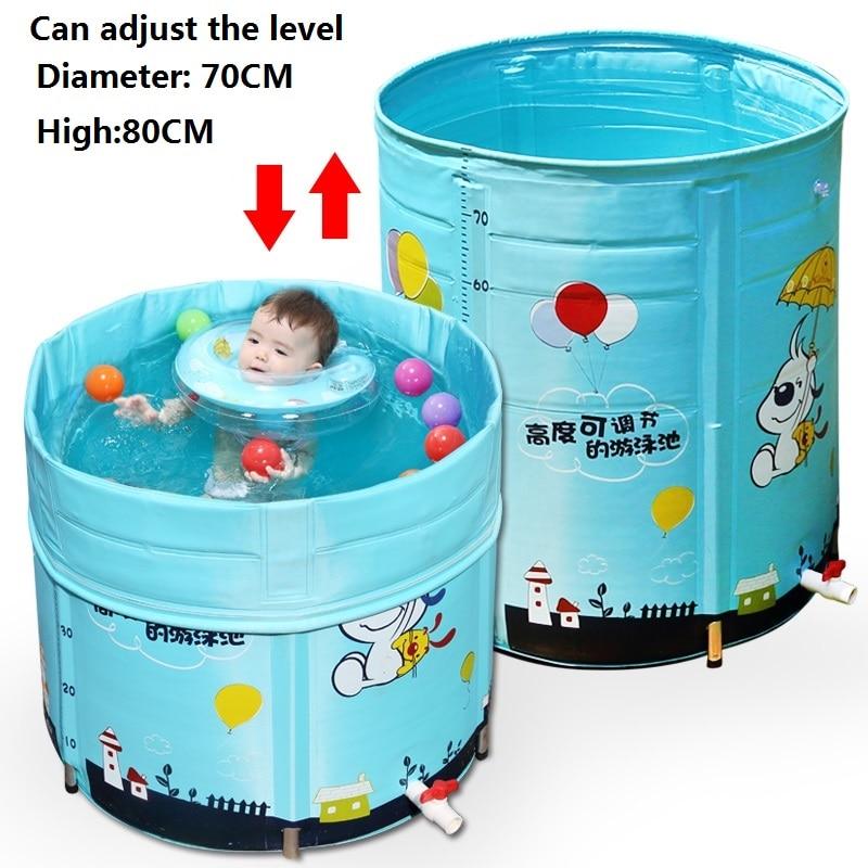 OUSSIRRO bébé piscine maison nouveau-né enfants alliage stent natation seau barils de bain