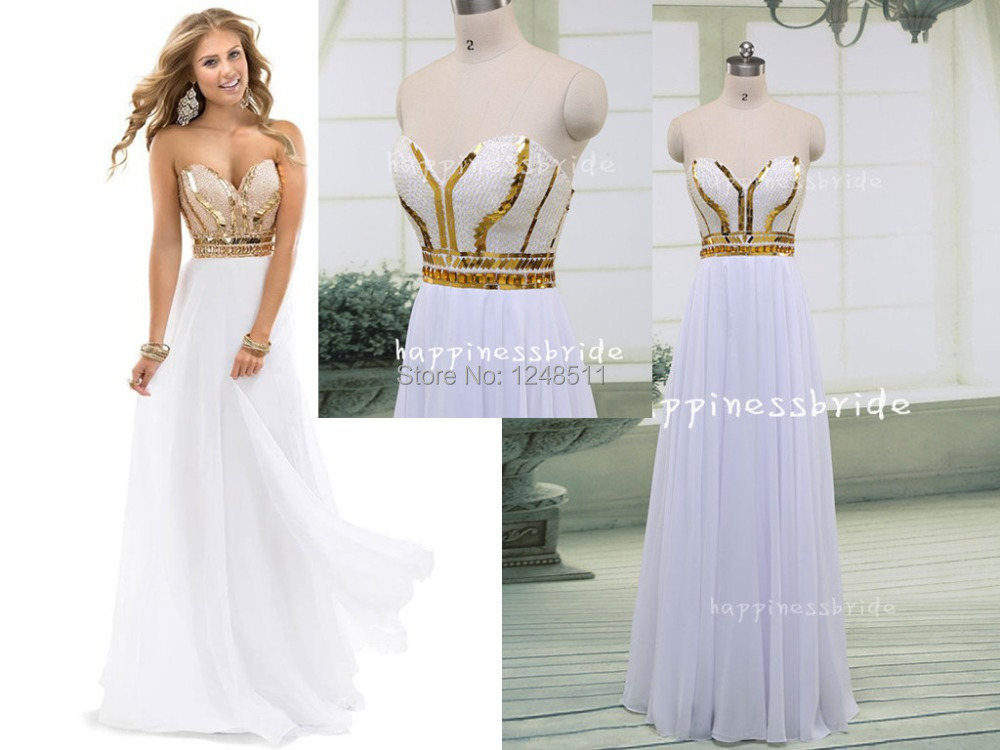 Hot Sale 2016 Sparkle Sweetheart Crystal Beaded Bodice A Line White ...
