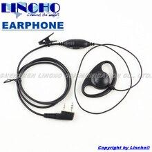 10 pcs sales D-shape PTT VOX mic walkie talkie interphone professional earphone earhook universal K-Type