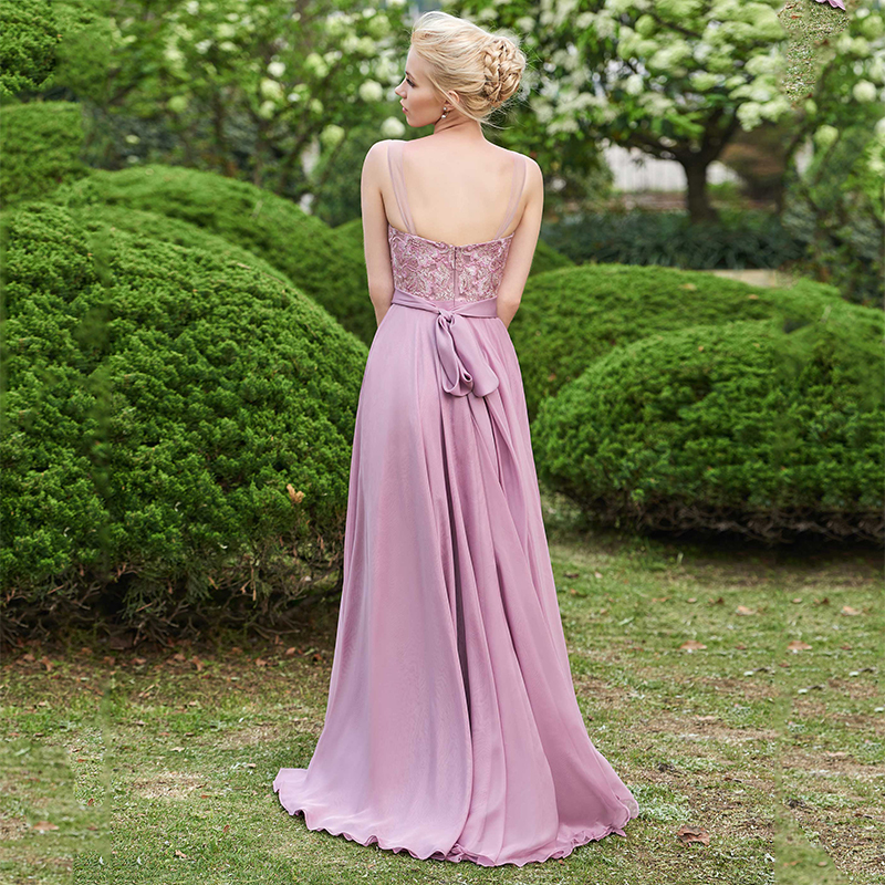 Dressv-Scoop-Neck-Bridesmaid-Dress-Sleeveless-Floor-Length-A-line-Lace-Sashes-Ribbons-Wedding-Party-Dress (1)