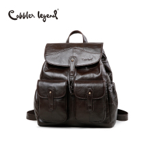 Cobbler Legend Original Brand Designer Women Backpack Genuine Leather Vintage School Backpack Female mochila For Girls 0910001-1
