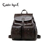 Cobbler Legend Original Brand Designer Women Backpack Genuine Leather Vintage School Backpack Female Mochila For Girls