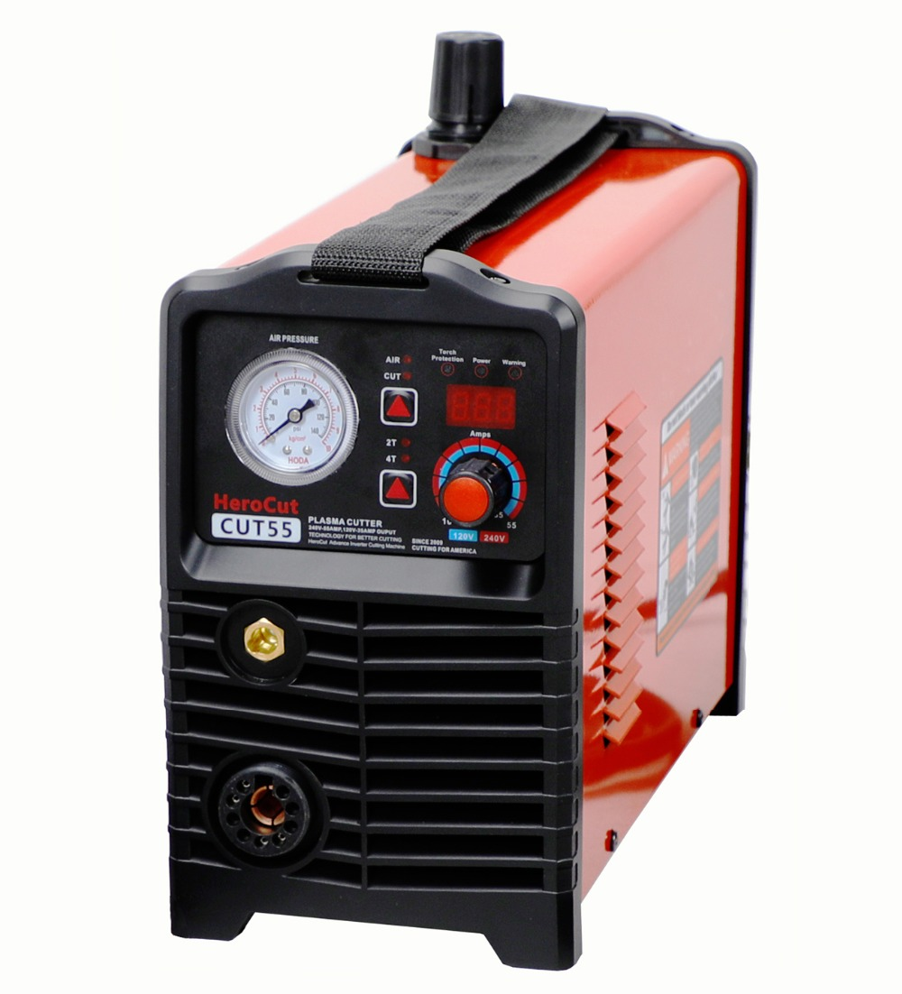 IGBT Non-HF Pilot Arc Cut55 Digital Control CNC Plasma Cutter Dual Voltage 120/240V, PTM80 CNC Straight Torch