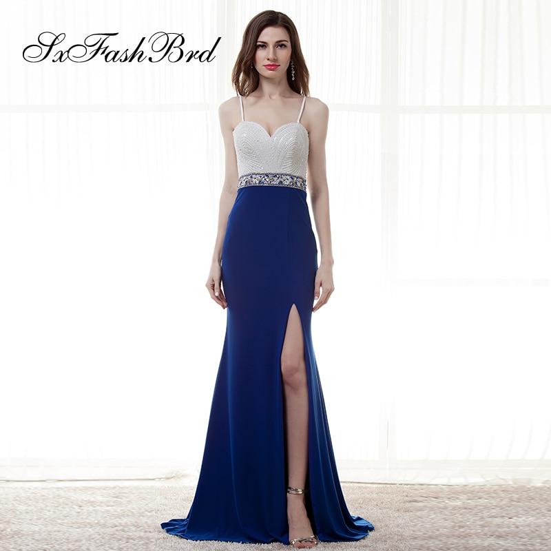 Robe Longue Sweetheart Spaghetti Strap Mermaid Side Split Long Formal Elegant   Dresses   for Women Evening Party   Prom     Dress