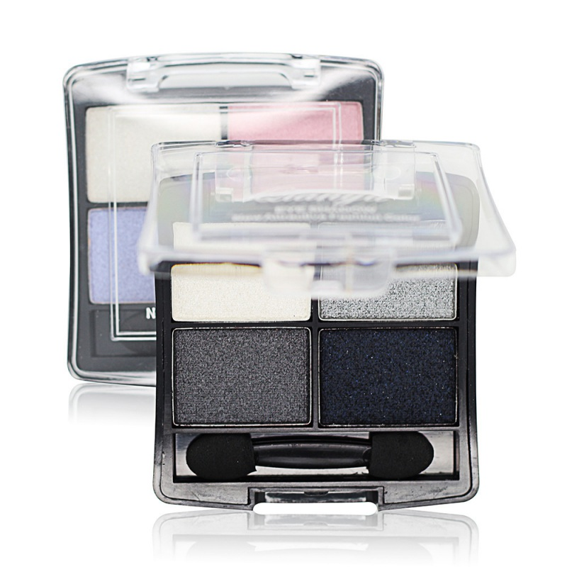 Beauty 4 Colors Professional Maquiagem Glitter Eyeshadow Palette Natural Cosmetics Naked Makeup Shining Eye Shadow With Brush