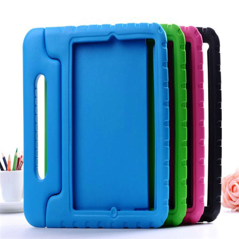все цены на  Hot Sale Luxury Baby Shock Proof Silicone Kids Protective Safe Foam Eva Handle Stand Case Cover For ipad Air 9.7inch Shell  онлайн