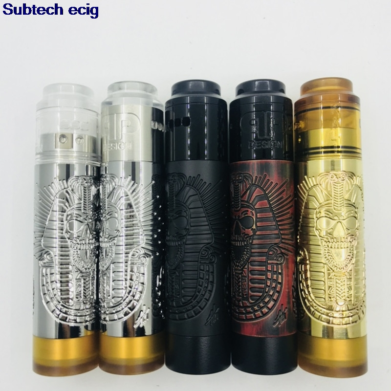 Newest The Pharaoh Mod and <font><b>QP</b></font> <font><b>KALI</b></font> <font><b>V2</b></font> <font><b>RDA</b></font> mods kit 25mm diameter brass pei Material 18650 battery e cigarette vaporizer vape kit image