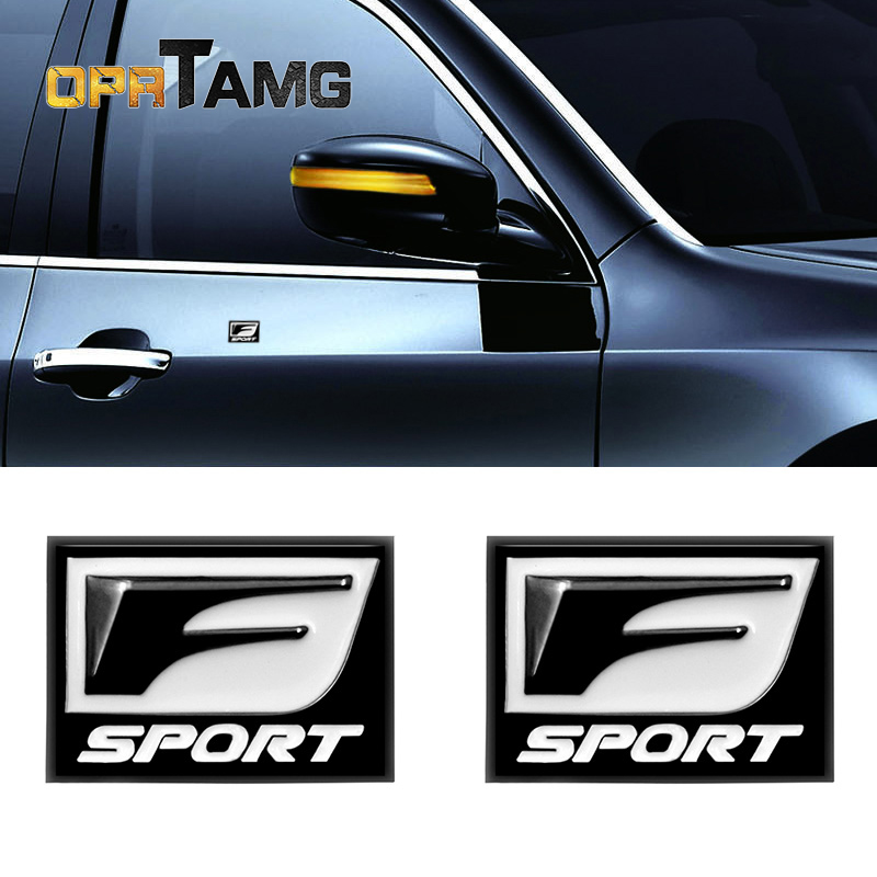 2pec/set F Sport Fsport Metal Emblem Badge Car Stickers rear Trunk Decals For Lexus RX ES IS IS200 IS300 RX330 RX350 Car-Styling