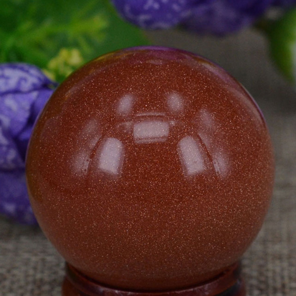 """40 mm (1,6 """") červený zlatý kámen písek koule křišťálový míč koule čakra léčení Reiki kameno řezbářství řemesla W / stojan"""