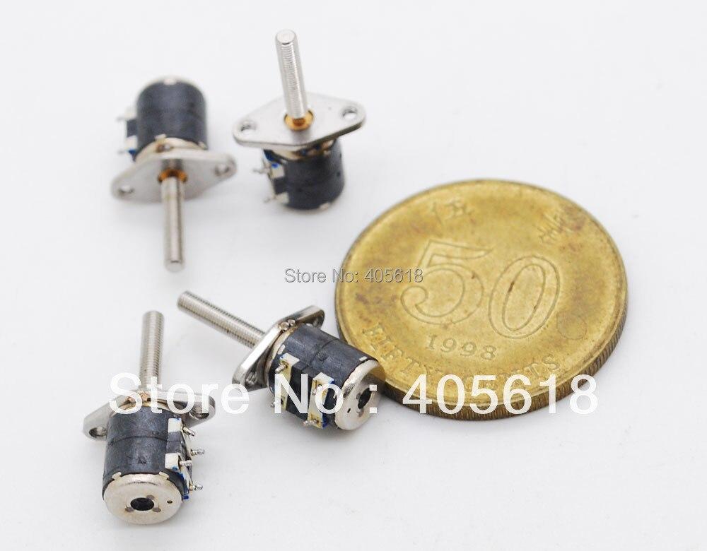 10 STÜCKE 4 Draht 2 Phase Miniatur schrittmotor (durchmesser: 6mm ...